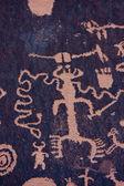 Native American Petroglyphs, Newspaper Rock, Utah — Stock Photo