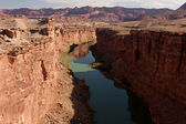Colorado River at the Bottom of the Grand Canyon — Stock Photo