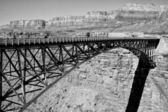 Navajo Bridge over the Colorado River and the Grand Canyon — Stock Photo