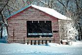農家の冬の建物 — ストック写真
