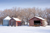 Farm Buildings in Winter — Stock Photo