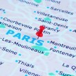 Paris map — Stock Photo #4978936