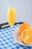 Orange juice and fruit — Stock Photo