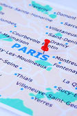 Paris map — Stock Photo