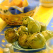 Artichokes for family meals — Stock Photo #4982666