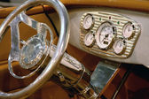 Interior classic car — Stock Photo