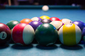 Pool table balls — Stock Photo