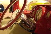 Interior classic car — Stock Photo