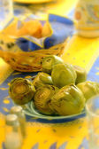 Artichokes for the family meals — Stock Photo