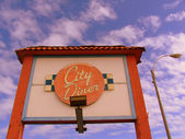 City diner sign — Stock Photo