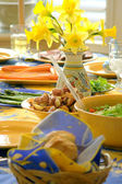 Spring table setting — Stock Photo