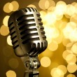 Microphone vintage - Stock Photo
