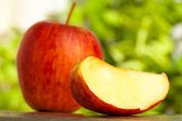 Red apple slices — Stock Photo