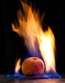 Apple combustion — Stock Photo