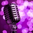 Vintage microphone - Stock Photo