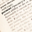 Stock Photo: Power word