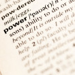 Royalty-Free Stock Photo: Power word