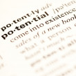 Potential definition - Stock Photo