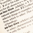 Selection definition — Stockfoto