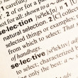 Selection definition — Stock Photo