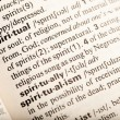 Spiritual definition — Stock Photo