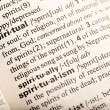 Spiritual definition - Stock Photo