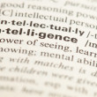 Intelligence word — Stock Photo