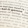 Stock Photo: Intelligence word