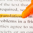 Stock Photo: Translation word