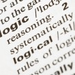 Logic word — Stock Photo