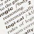 Logic word - Stock Photo