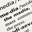 Royalty-Free Stock Photo: Media definition in dictionary