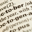 October word — Stock Photo