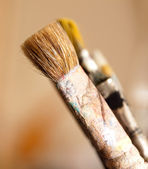 Paintbrush used — Stock fotografie