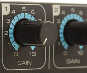 Gain volume fader — Stock Photo