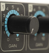 Sound card fader — Stock Photo