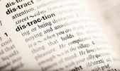 Distraktion ord — Stockfoto