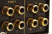 Sound card inputs — Stock Photo