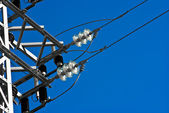 Metal electric post — Stock Photo