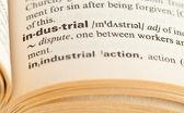 Testo di molti tipi di lavoro e industrie con i lavori di parola in mezzo — Foto Stock