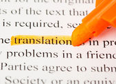 Translation word — Stock Photo