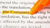 Company word — Stock Photo