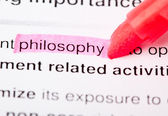 Dictionary Series - Philosophy — Stock Photo