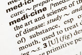 Medicine word — Stock Photo