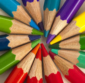 Color pencils in rainbow colors — Stock Photo