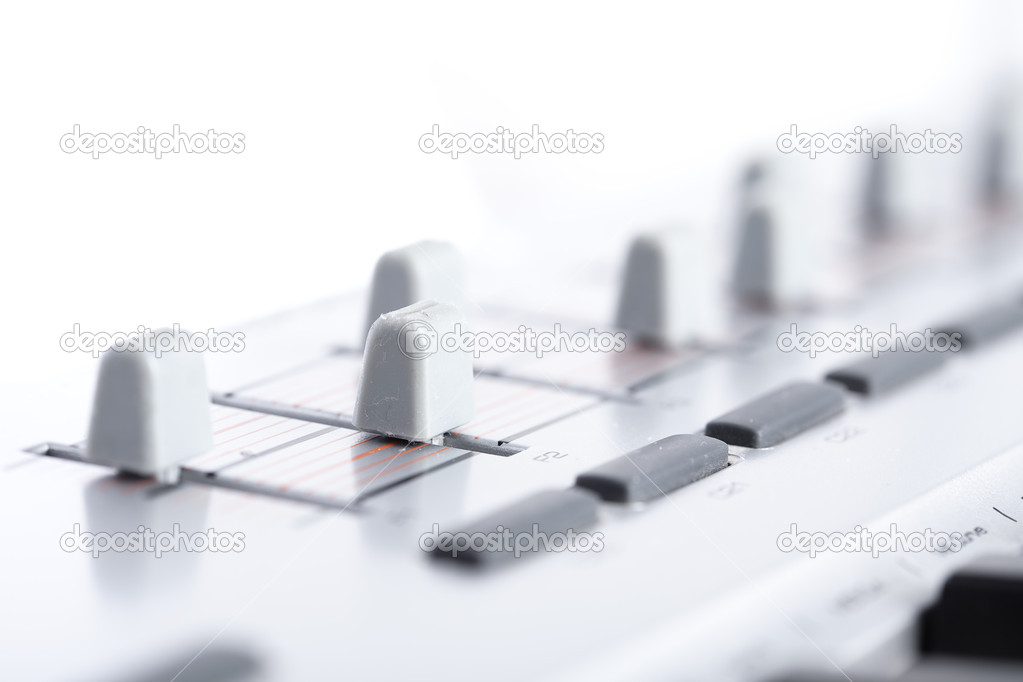 Faders closeup — Stock Photo #4991873