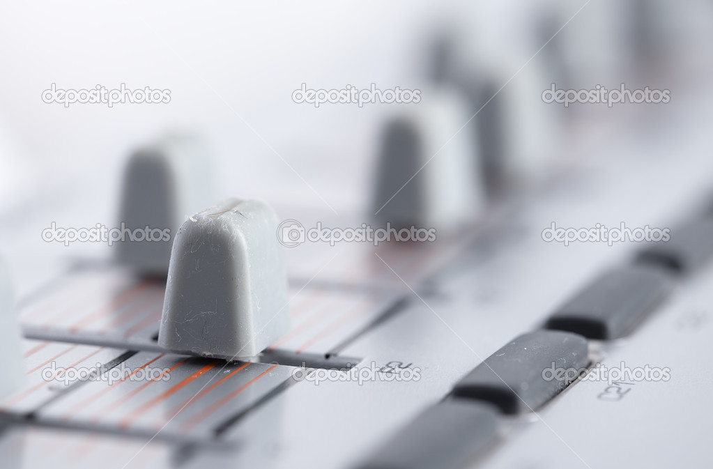 Faders closeup — Stock Photo #4991925