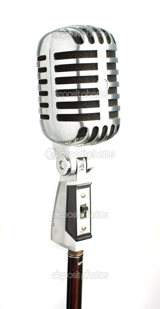 Vintage microphone isolated on a white background — Stock Photo #4992030