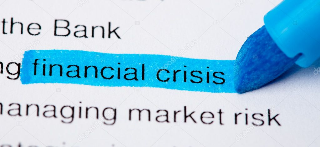Newspaper headlines - financial crisis on 2008 — Stock Photo #4995565