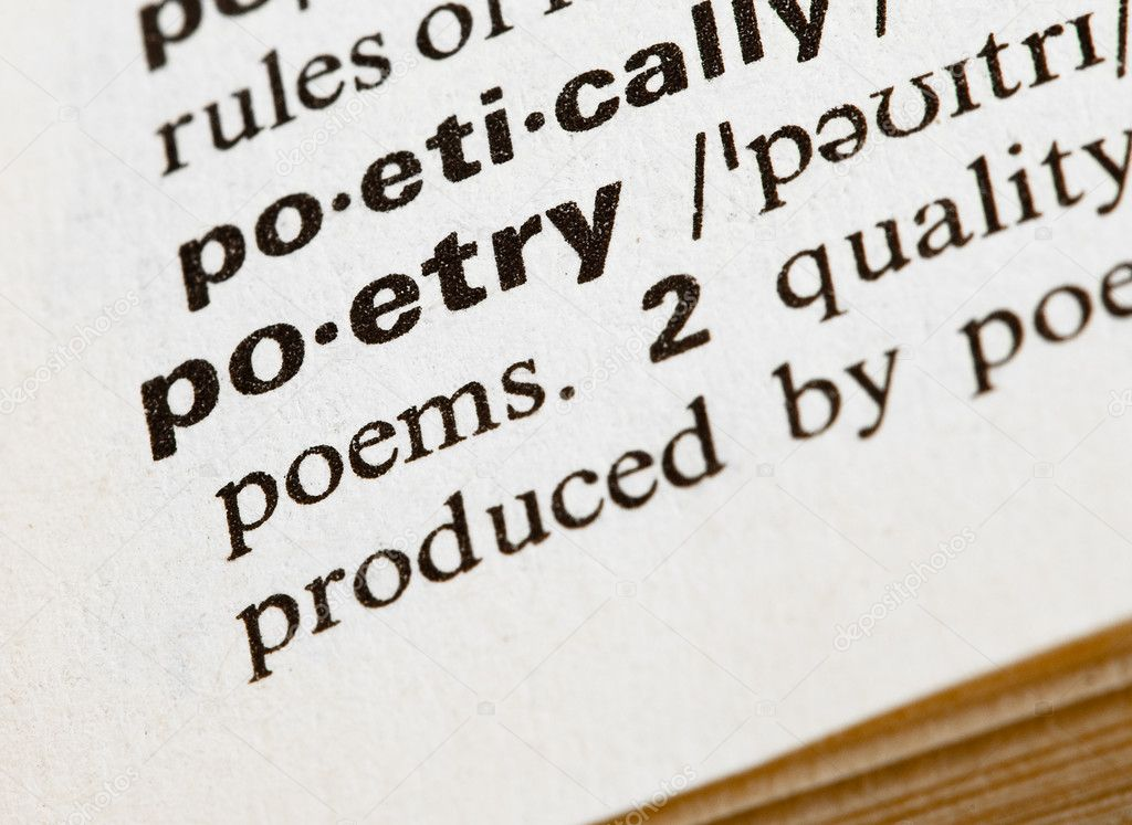 Poetry definition in dictionary — Stock Photo #4995716